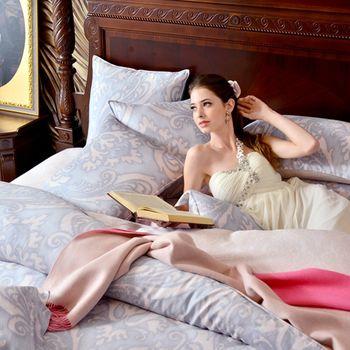 【義大利La Belle】拜特洛蒙雙人天絲四件式舖棉兩用被床包組