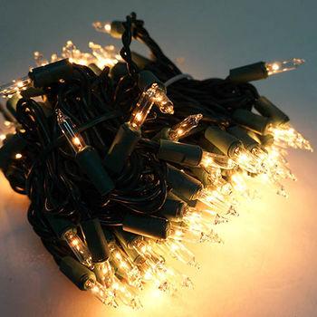 聖誕燈串100燈清光樹燈(鎢絲燈-溫暖清光色)(可搭聖誕樹)