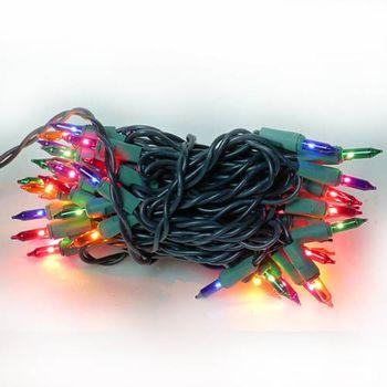 聖誕燈串-50燈彩色樹燈(鎢絲燈-浪漫四彩色)(可搭聖誕樹)