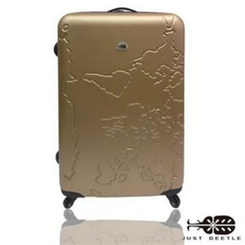 JUSTBEETLE 地圖系列ABS輕硬殼行李箱24吋