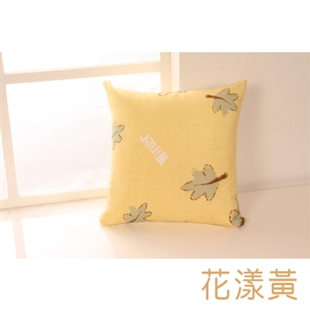 【HomeBeauty】馬卡龍色系抱枕-花漾黃