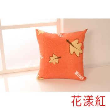 【HomeBeauty】馬卡龍色系抱枕-花漾紅