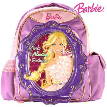 【BARBIE】芭比繽紛立體護脊書包C (紫)(送芭比水壺)