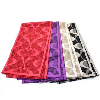 COACH 新款優雅保暖亮蔥C織紋針織圍巾(共4色)