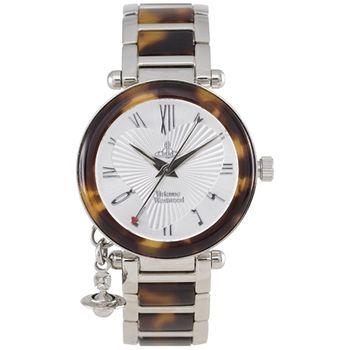 Vivienne Westwood 心動星球墜飾白豹紋腕錶