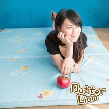 【奶油獅】高支撐臻愛三折記憶聚合收納床墊-單人加大(3色)