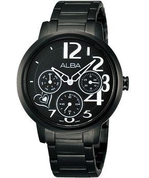 【SEIKO】ALBA 愛戀與妳相遇限量日曆女錶-IP黑
