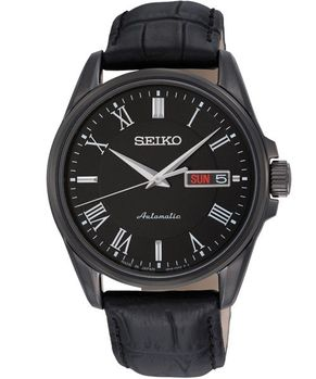【SEIKO】4R36 尊爵紳士風機械腕錶-黑