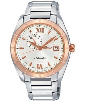 【SEIKO】4R37 偏心大三針機械腕錶