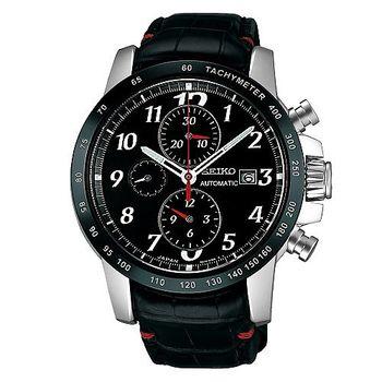 【SEIKO】三環計時視距儀機械皮帶腕錶(SAGH005J)