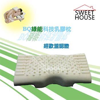 【甜美家】BQ綠能科技乳膠枕(附舒柔枕套)
