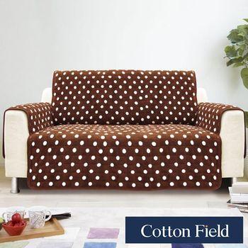 【棉花田】暖點三人沙發防滑保暖保潔墊-可可色
