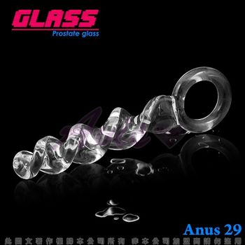 GLASS蕩漾春心玻璃水晶 通體螺旋式後庭冰火棒(Anus 29)