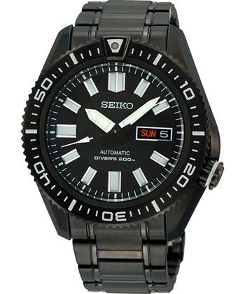 SEIKO強悍戰士200m機械腕錶-IP黑7S36-04P0SD