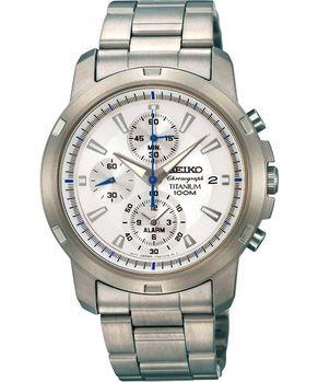 SEIKO 急速風暴鈦金屬計時腕錶-銀 7T62-0BF0S