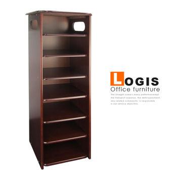 【LOGIS】SH660精緻胡桃七層多功能櫃/收納櫃/書櫃/鞋櫃