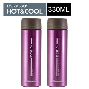 樂扣樂扣艷彩不鏽鋼保溫杯330mL/粉紅(LHC3020)