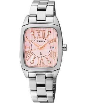 【SEIKO】LUKIA 優美愛戀晶鑽限量腕錶-粉