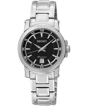【SEIKO】Premier 羅馬之戀時尚女錶-黑/銀