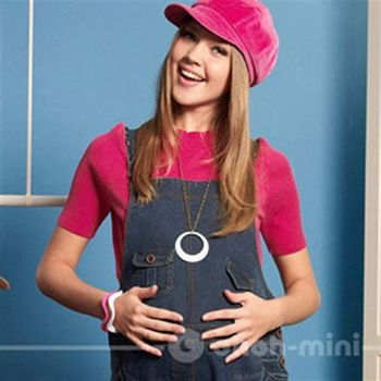 【ohoh-mini】孕婦裝系列-針織羅紋素面短袖孕婦上衣