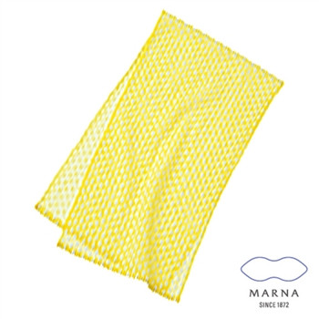 【MARNA】尼龍水滴球沐浴巾(黃)
