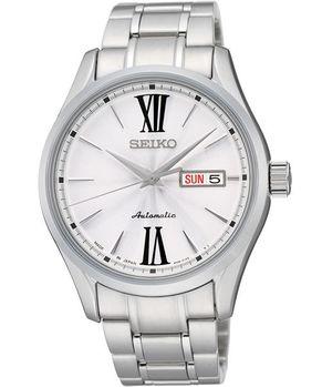 【SEIKO】PRESAGE 匠心4R36機械腕錶-銀