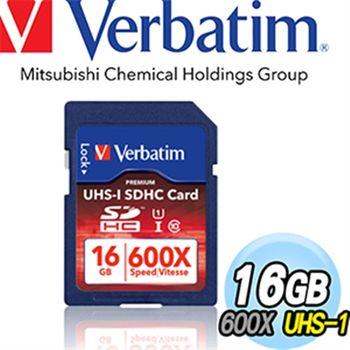 Verbatim UHS-1 16GB SDHC 600X 記憶卡