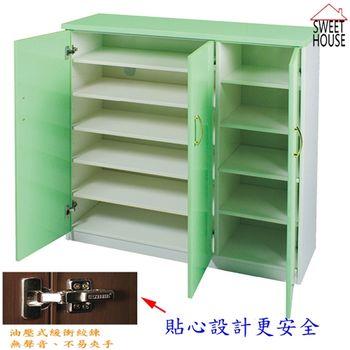 【甜美家】防水防潮防霉3.2尺鞋櫃(雙色配6色可選)