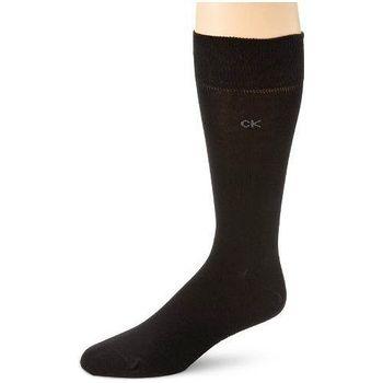 Calvin Klein 2014男時尚黑色精梳平針織中統襪3入組