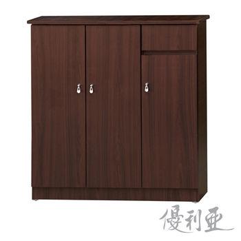 【優利亞-簡約經典】3X3.2尺開門鞋櫃(2色可選)
