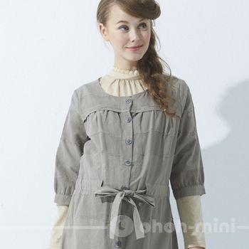 【ohoh-mini】森林系女孩簡約風格孕婦洋裝