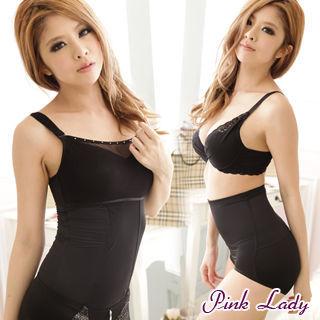 PINK LADY 惹火S曲線誘惑 內搭式塑身衣+俏臀高腰褲2件組