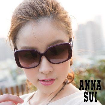 ANNA SUI愛心鏤空白鑽寶石紋造形眼鏡AS848766