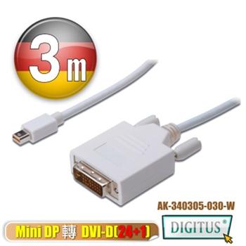 曜兆 DisplayPort轉DVI-D互轉線*3公尺圓線