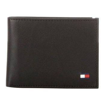 Tommy Hilfiger 2014男時尚多爾雙折黑色皮夾
