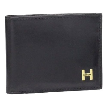 Tommy Hilfiger 2014男時尚利茲雙折黑色皮夾