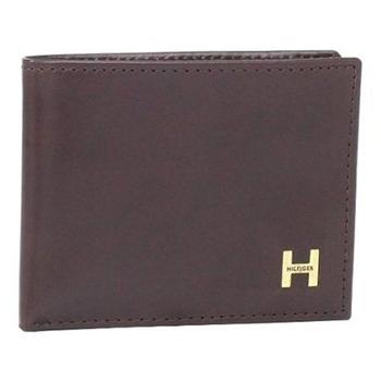 Tommy Hilfiger 2014男時尚利茲雙折深棕色皮夾