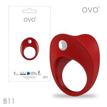 德國OVO-B11 前衛男性 矽膠靜音時尚震動環-紅色