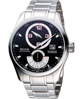 epos三針一線心搏自動上鍊腕錶3407.858.20.15.30