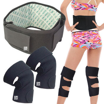 神奇能量魔熱敷帶腰部加膝蓋-雙-集網