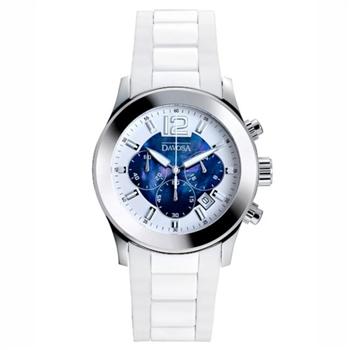 DAVOSA Laures 計時陶瓷橡膠腕錶-藍/39mm