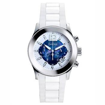 DAVOSA 計時陶瓷橡膠腕錶-藍/39mm