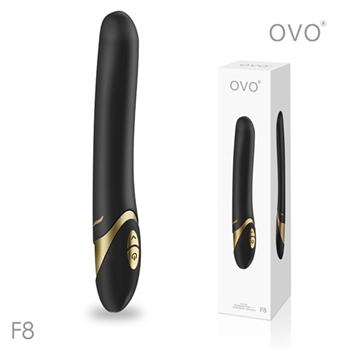 德國OVO-F8 萊恩 5段變頻 多功能 G點震動按摩棒-黑色