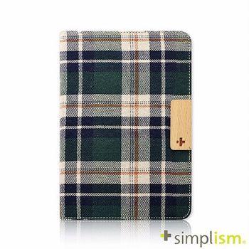 Simplism iPad mini2 布面掀蓋保護套-綠色格紋