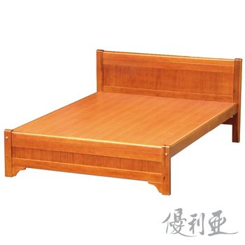 【優利亞】古道簡約加大6尺實木床架