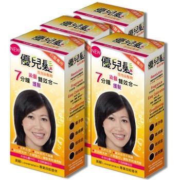 優兒髮泡泡染髮劑4盒組-咖啡金色