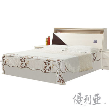 【優利亞】星鑽洗白加大6尺床頭箱