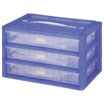 【DOLEDO】手提分類收納整理盒三層