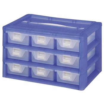 【DOLEDO】手提分類收納整理盒九格
