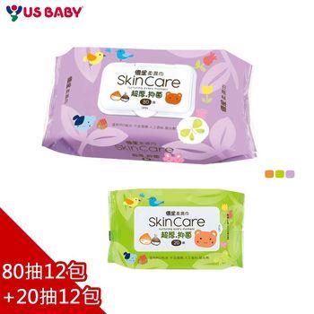 【優生】濕紙巾(80抽12包+20抽x12包)